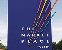 Theme Paint | The Market Place Signage | Irvine, California